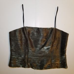 Bellissima Shimmer Crush Bodice Top New With Tags